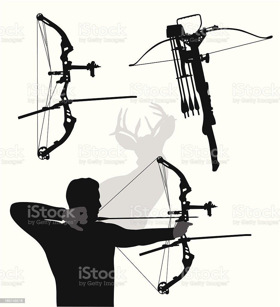 Modern Bows Vector Silhouette vector art illustration