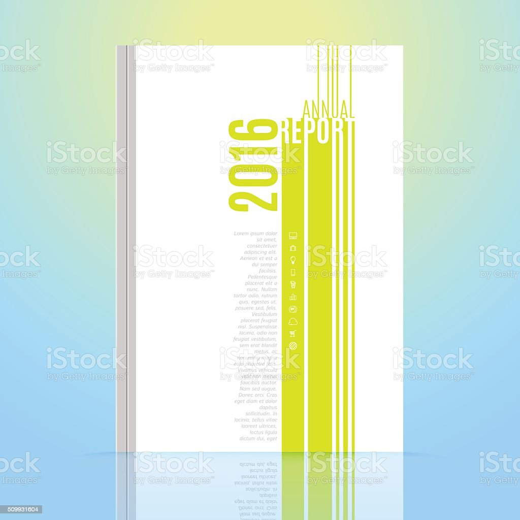 Modern Brochure Annual Report Design Template Stock Vector Art - Annual report design templates 2016