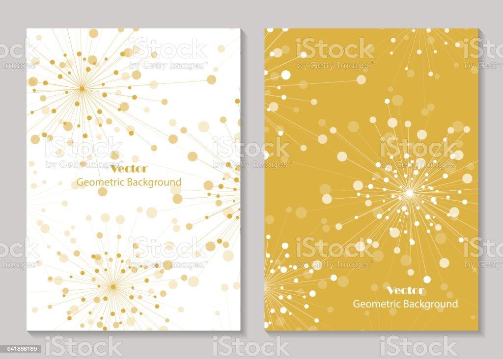 Modern brochure cover design vector art illustration