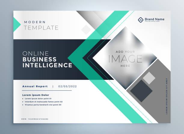 Modernes Prospekt-Design für die Präsentation von Unternehmen – Vektorgrafik