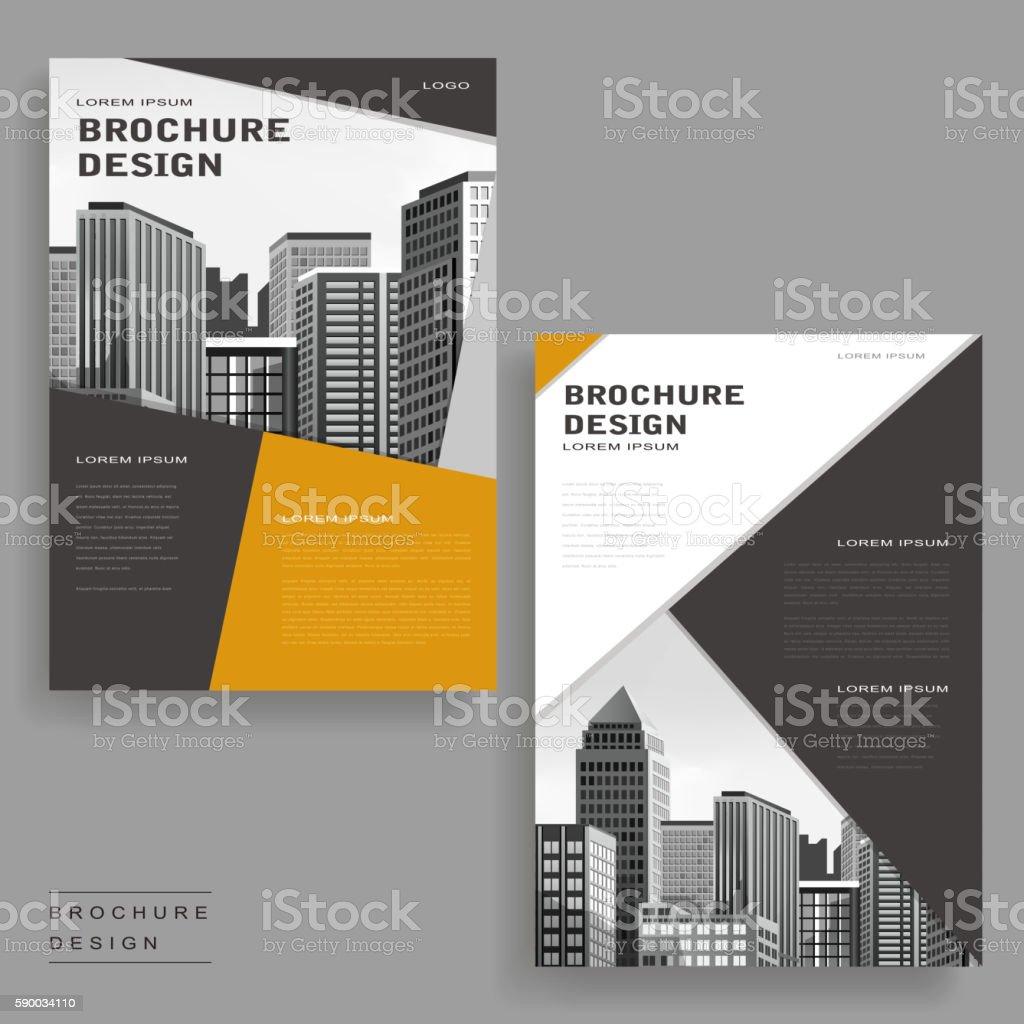 Modern brochure yellow flat modern brochure layout design for Modern brochure design
