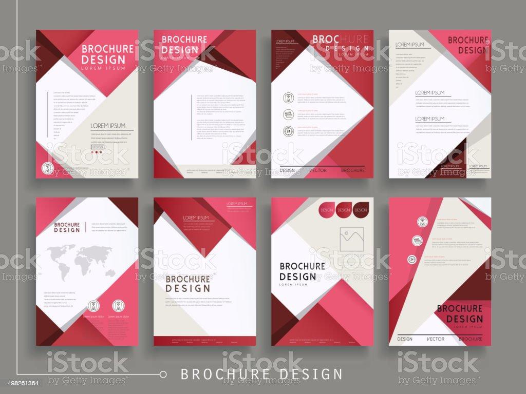 modern brochure template vector art illustration