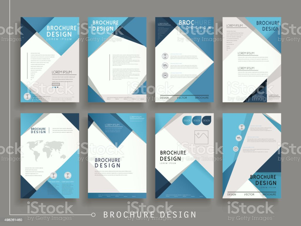 Modern brochure template stock vector art more images of for Modern brochure template