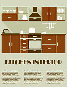 Modern brown kitchen interior design