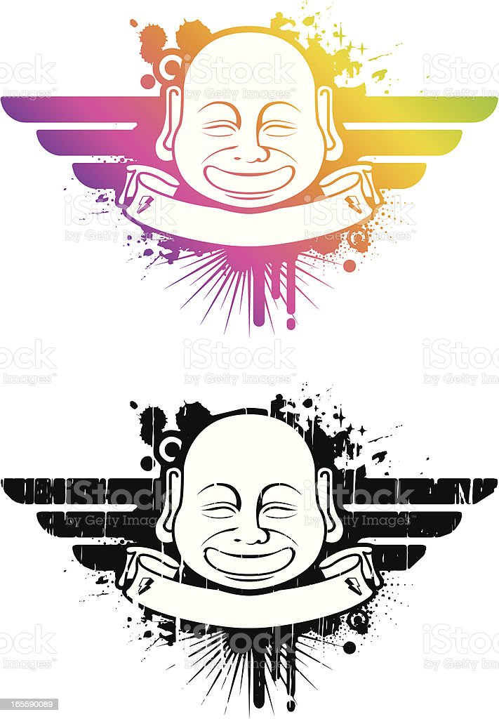 modern buddha royalty-free stock vector art