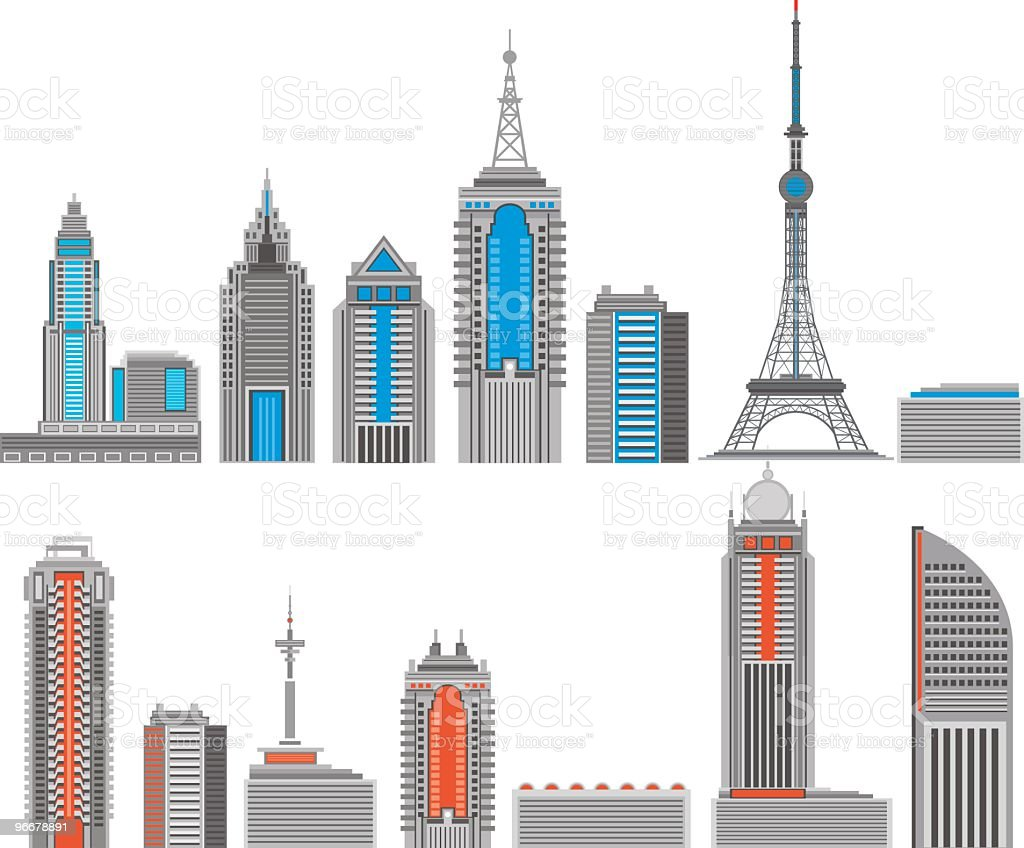 Modernes Gebäude – Vektorgrafik