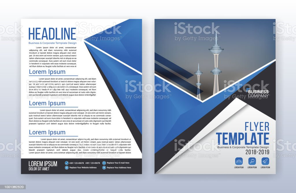 Modern business annual report template multipurpose flyter modern business annual report template multipurpose flyter background 85 x 11 inches print media accmission Gallery