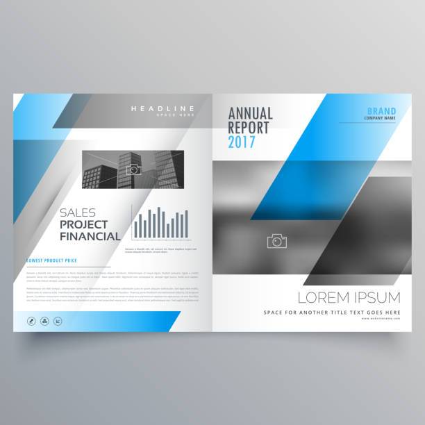 Royalty Free Modern Company Brochure Bifold Template Layout For Your