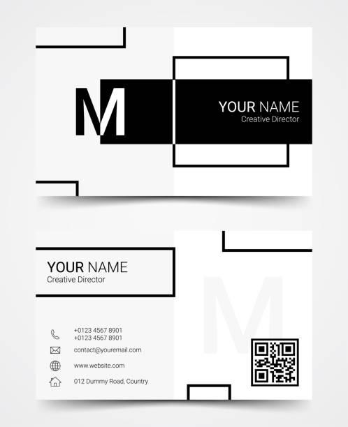Modern business card design template set, vector illustration Modern business card design template set, vector illustration business cards and stationery stock illustrations