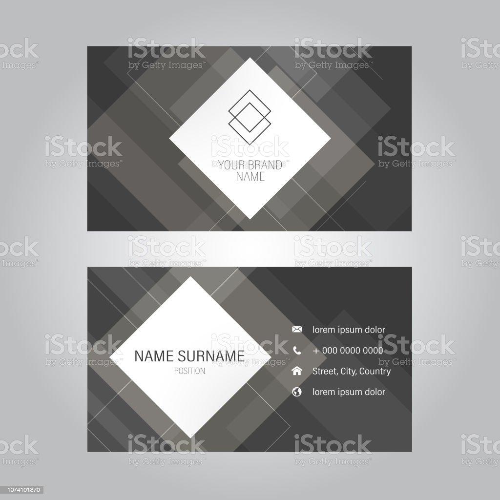 Moderne Visitenkarte Designvorlage Stock Vektor Art Und Mehr