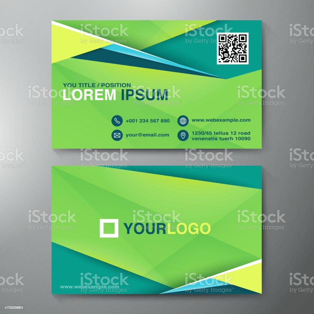 Modern Business card Design Template vector art illustration