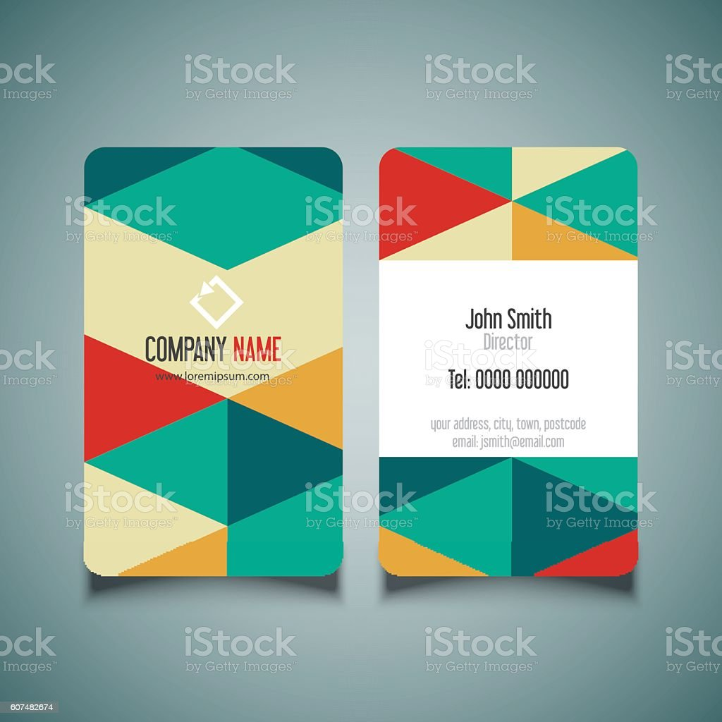 Modern business card design stock vector art more images of modern business card design royalty free modern business card design stock vector art amp reheart Gallery