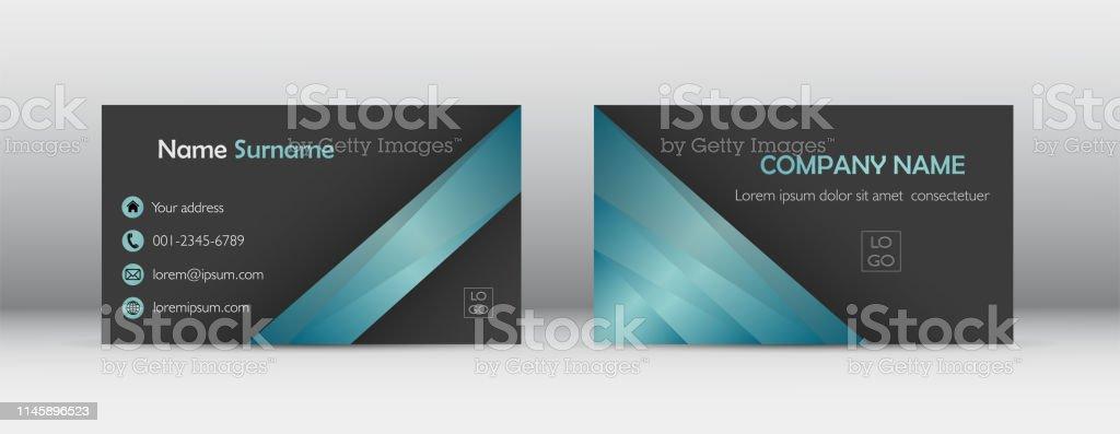 Modernes Visitenkartenvorlagendesign Abstrakt Kontaktkarte