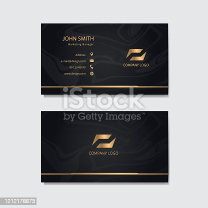 istock Modern business card template design. Vector illustration. 1212176673