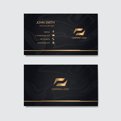 Modern business card template design. Vector illustration.