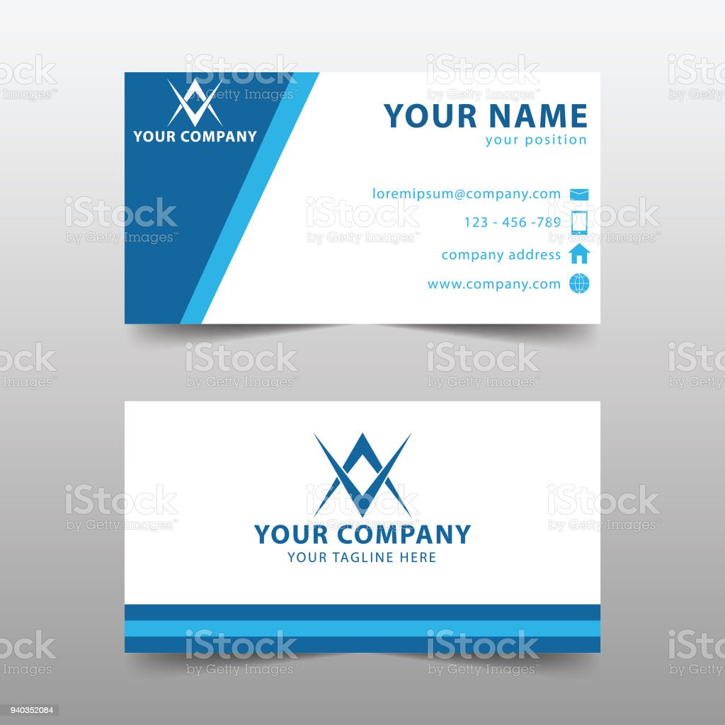 modern business card template modern simple business card set stock