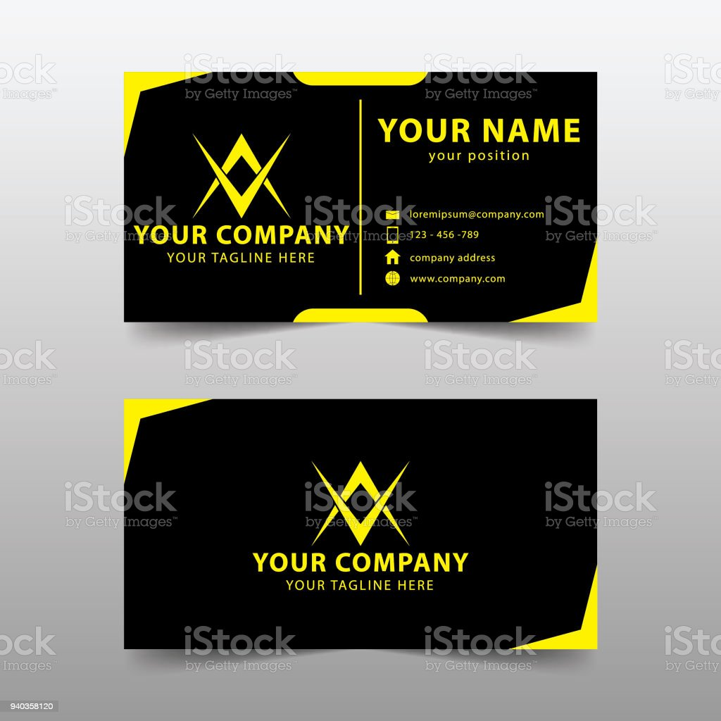 Modern business card template modern simple business card set stock modern business card template modern simple business card set royalty free modern business card wajeb Images