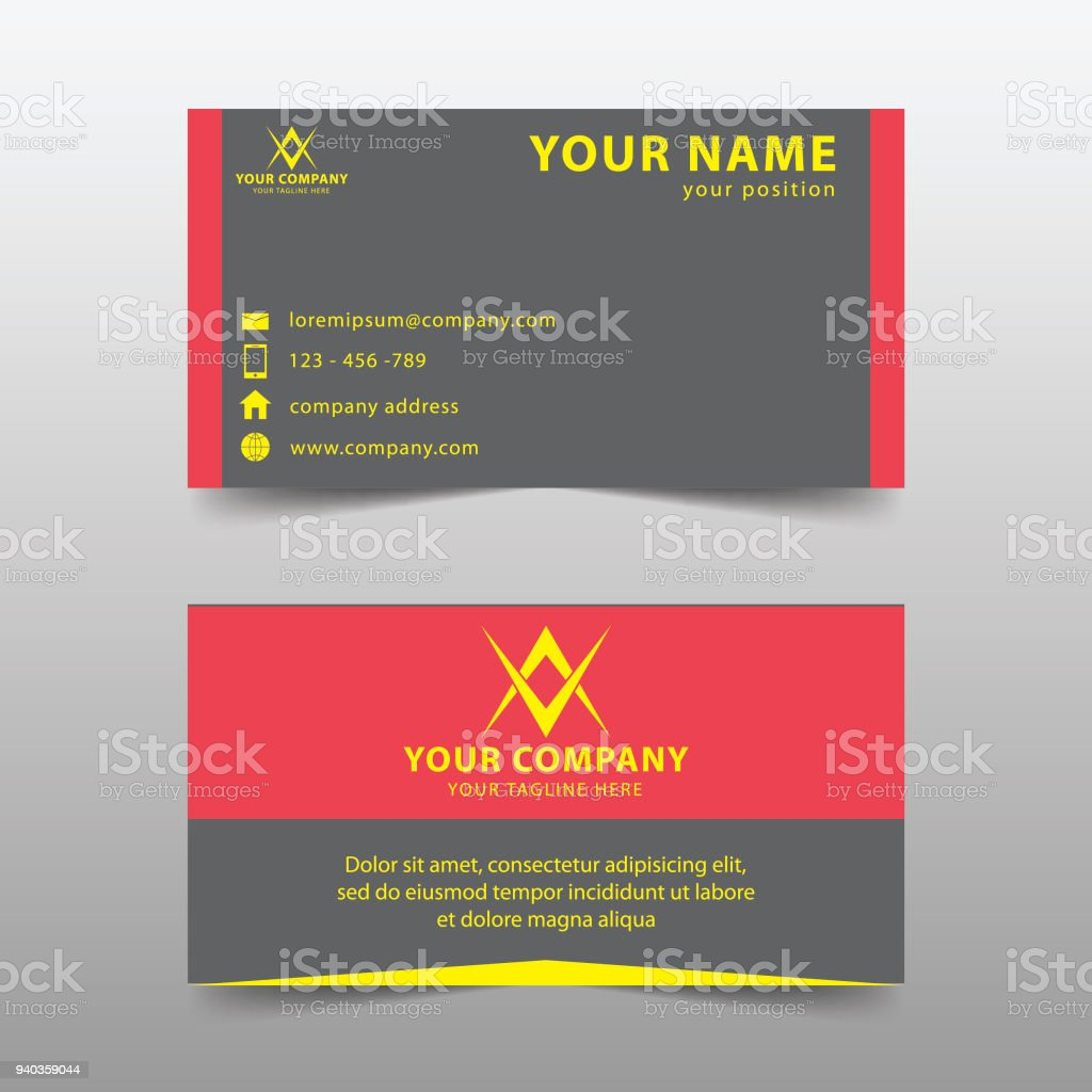 Vetores De Modelo De Cartão Moderno Conjunto Moderno Cartão De Visita Simples E Mais Imagens De Branco