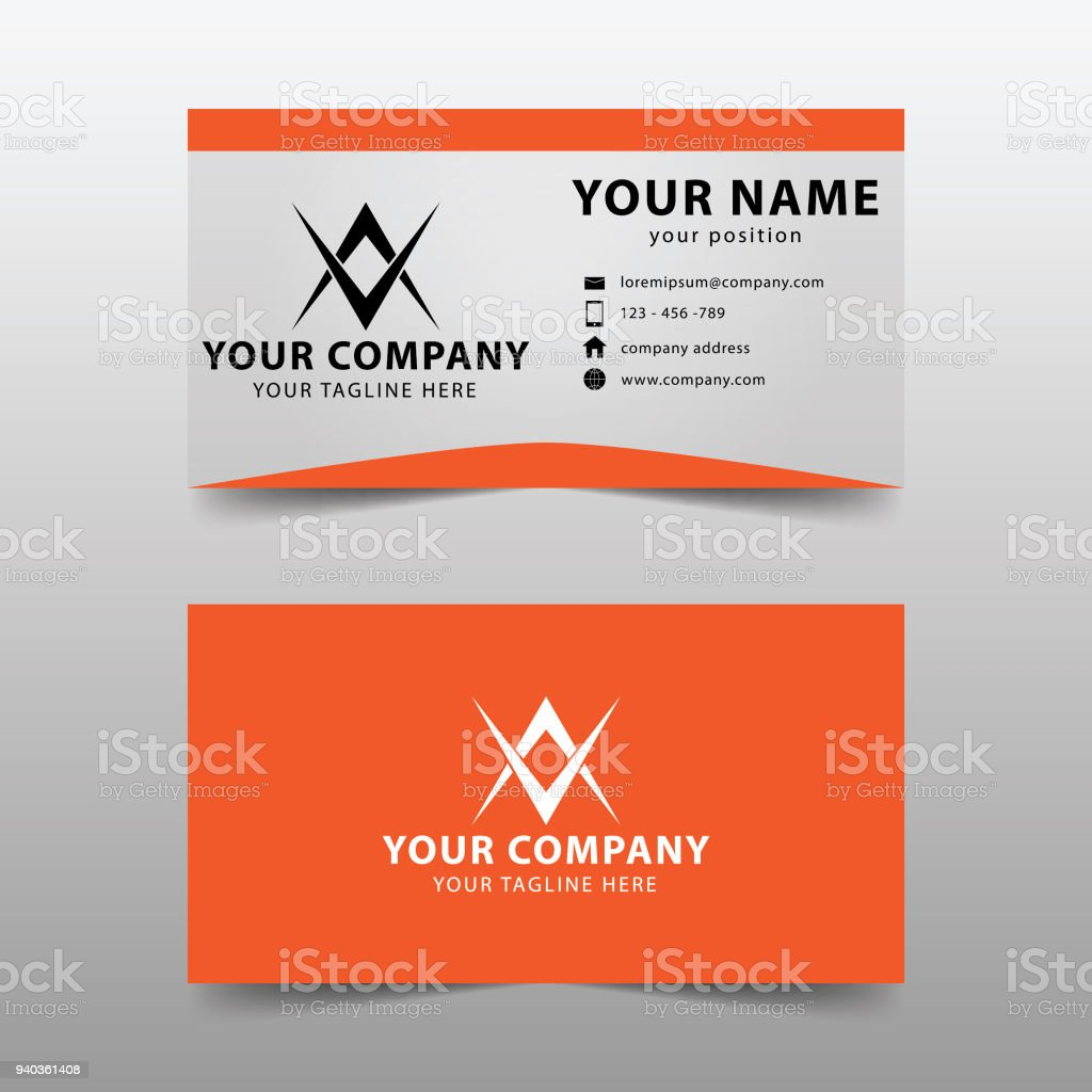 Modern Business Card Template Modern Simple Business Card Set Stock ...