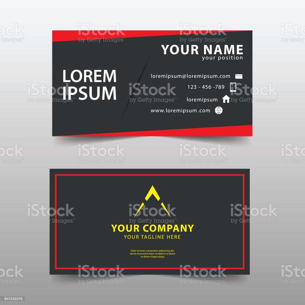 Modern Business Card Template Modern Simple Business Card Set Stock ...
