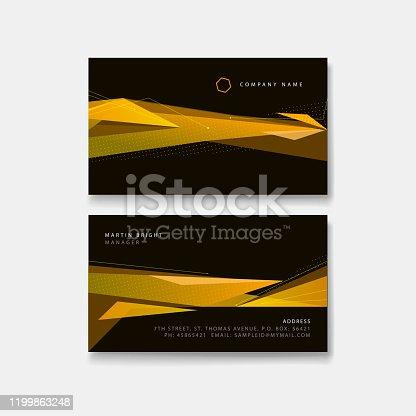 business card template design mockup