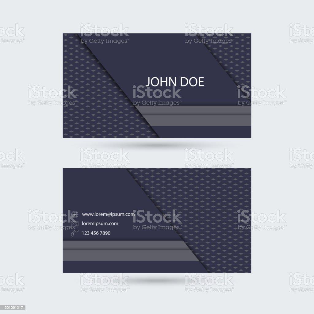 Modern  business card template vector art illustration