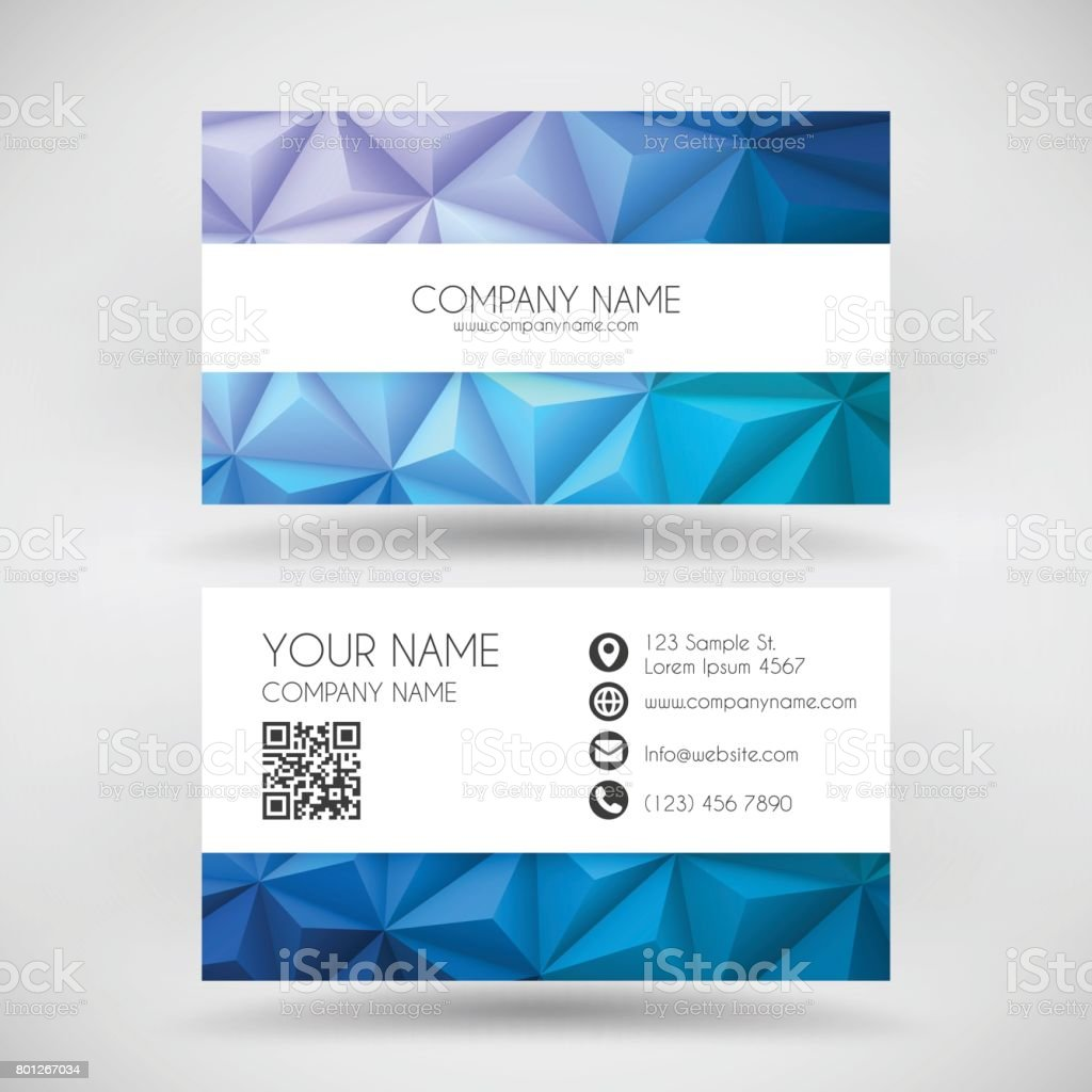 Modern Business Card Template With Abstract Geometric Background Royalty Free