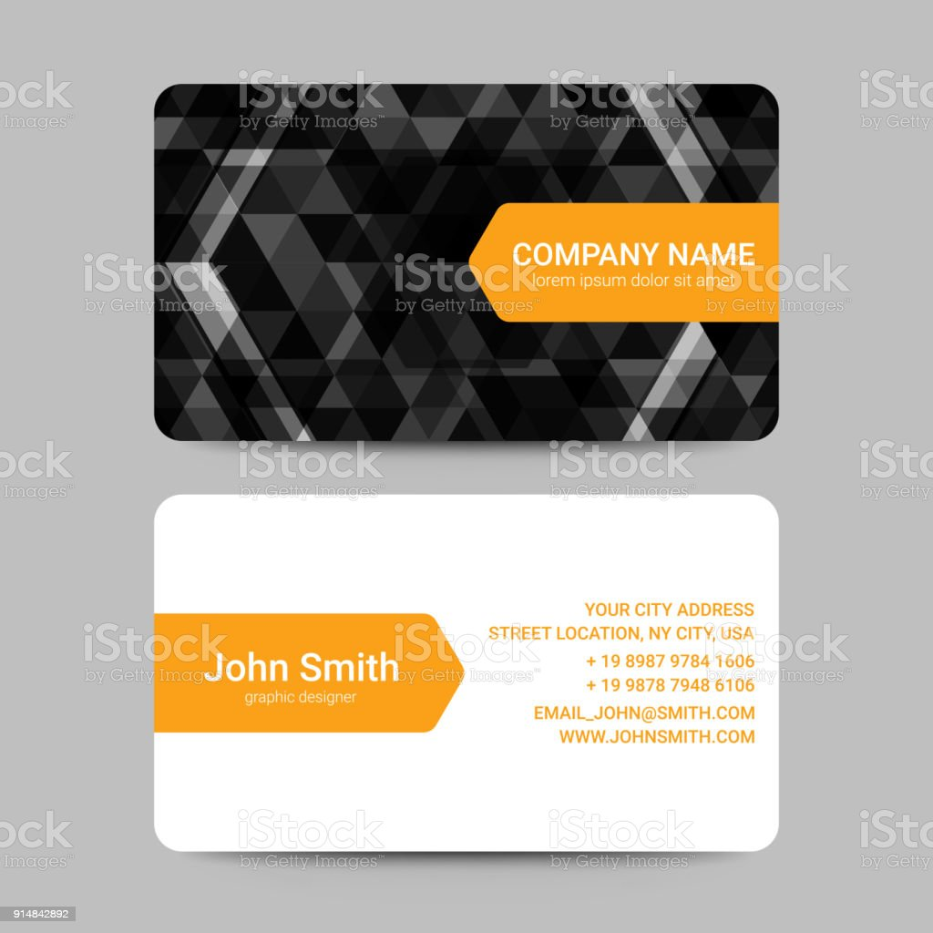 Modern business card template with black geometric shapes vector modern business card template with black geometric shapes vector royalty free modern business card flashek Choice Image