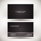 Modern business card template with carbon fiber background.