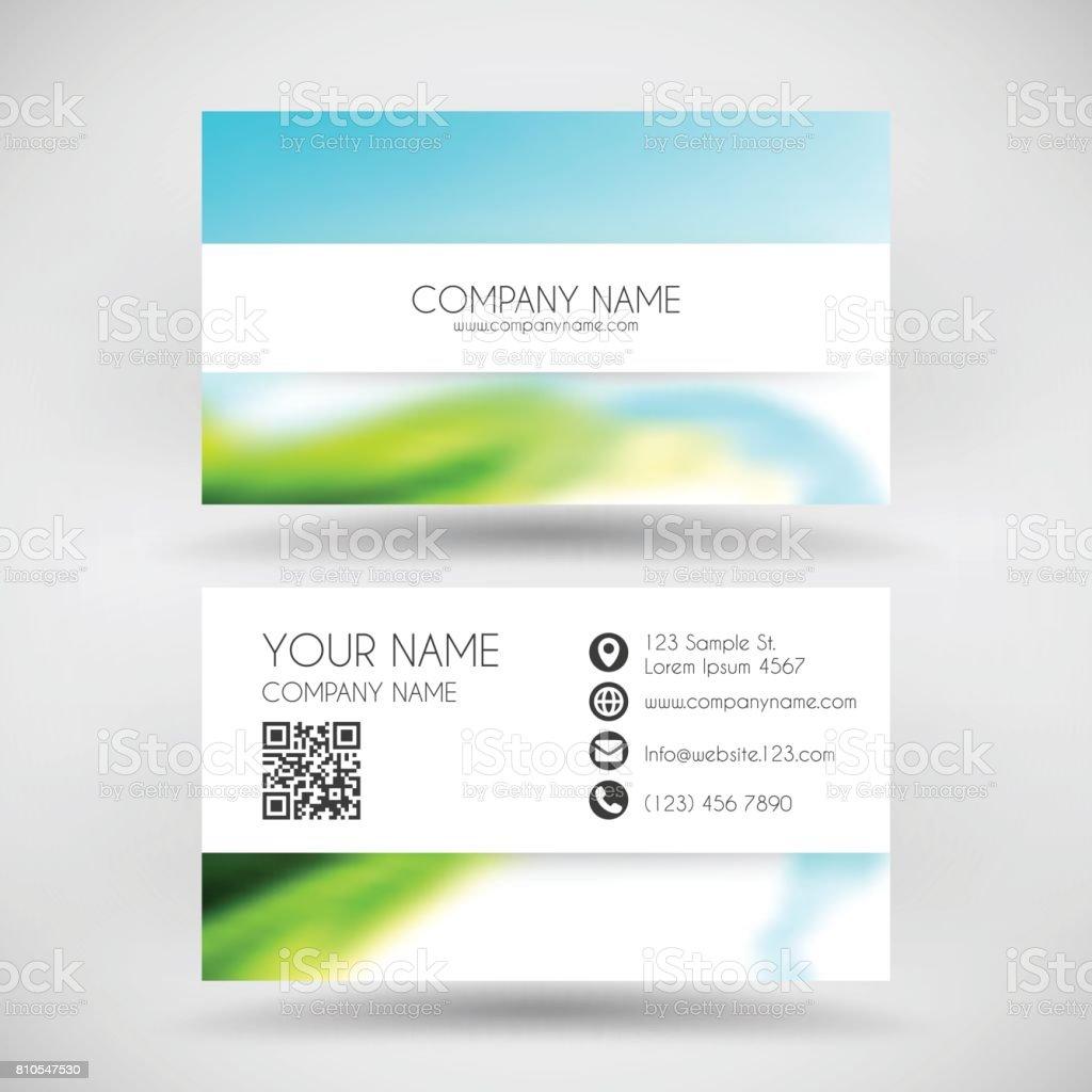 Moderne Visitenkarte Vorlage Mit Farbigen Abstrakten