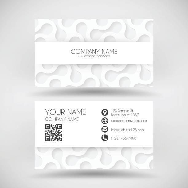 Royalty free business card barcode clip art vector images modern business card template with white abstract background vector art illustration colourmoves