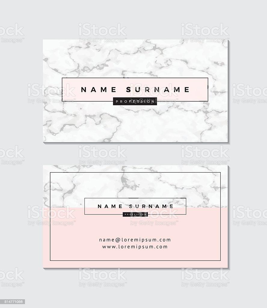 Modern business card templateModern business card template vector art illustration