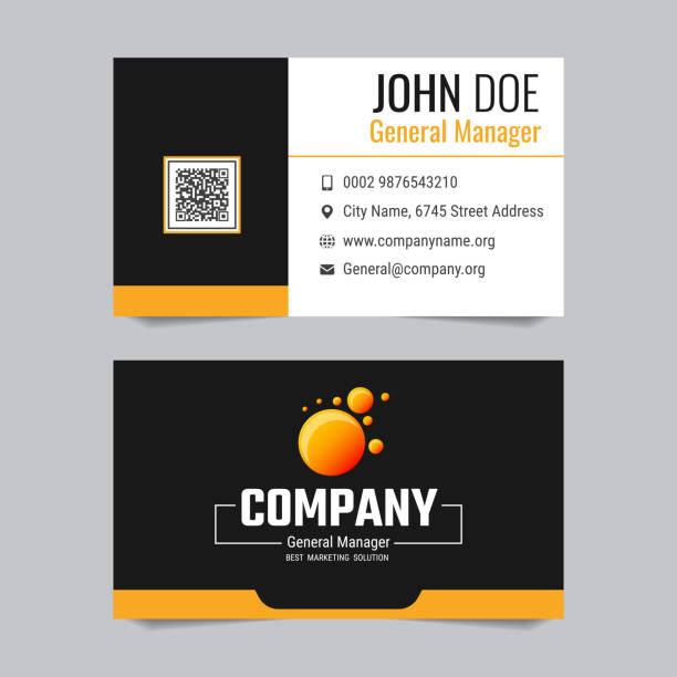Royalty free visiting card design clip art vector images modern business card vector template design vector art illustration reheart Gallery