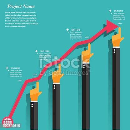 istock Modern business concepts in flat design 500325619