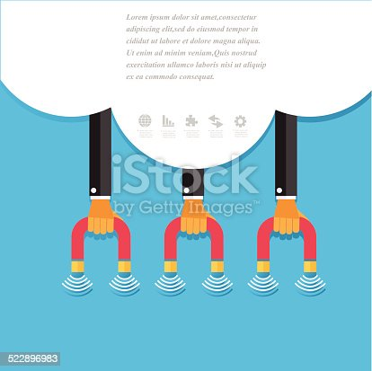 istock Modern business concepts in flat design 522896983