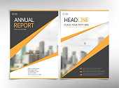 Modern business cover pages, vector template with space for your pictures - can be used for annual report, flyer, brochure, leaflet and more