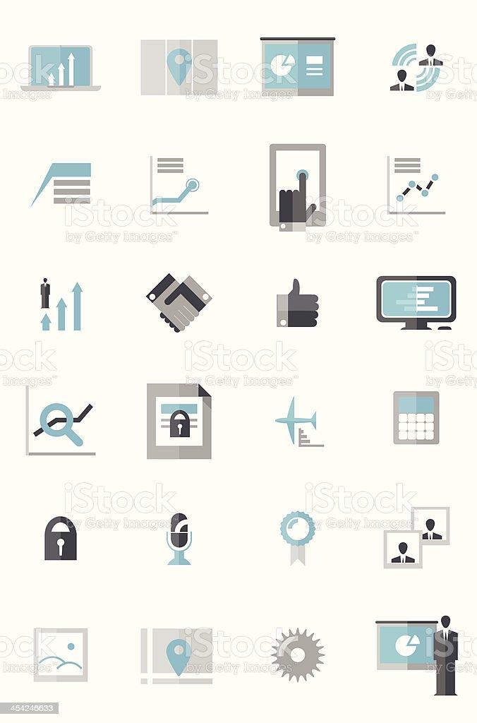 Modern Business Data Icons vector art illustration