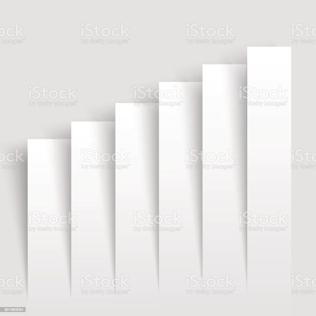 Entreprise moderne graphiques de plus en plus. Graphique de l'infographie. Illustration vectorielle. - Illustration vectorielle
