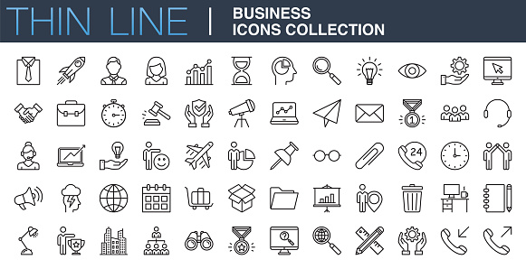 Modern Business Icons Collection clipart