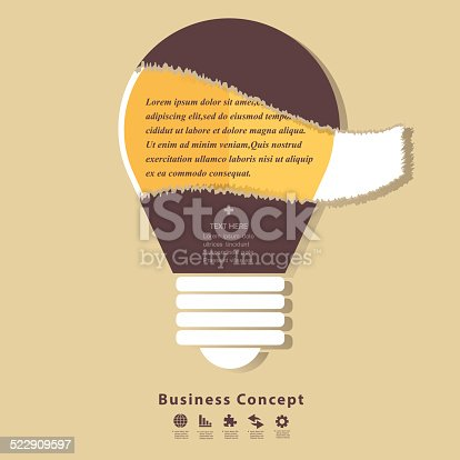 istock Modern business idea concepts in flat design 522909597
