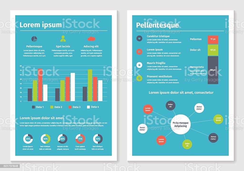 Modern Business Infographic Brochure Template Stock Vector Art - Infographic brochure template