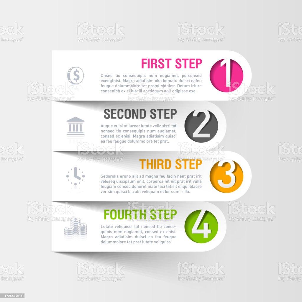 Modern business infographics template vector art illustration