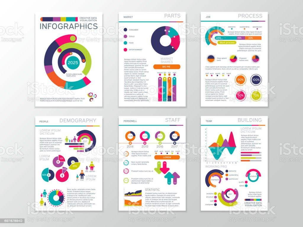 Modernes Business Dokumente Mit Grafiken Und Infografik Charts ...