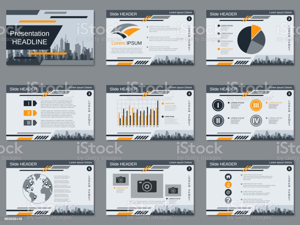現代のビジネス プレゼンテーション ベクトル テンプレート - イラストレーションのロイヤリティフリーベクトルアート