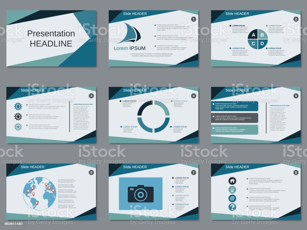 Modern business presentation vector template - Royalty-free Advertisement stock vector