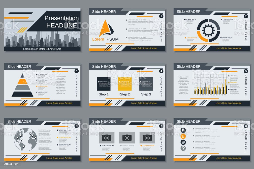 Modern business presentation vector template royalty-free modern business presentation vector template stock vector art & more images of advertisement