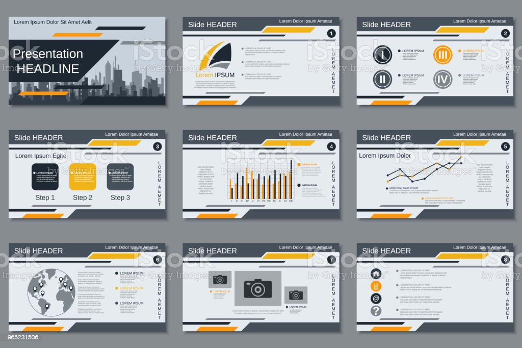 Modern business presentation vector template modern business presentation vector template - stockowe grafiki wektorowe i więcej obrazów bez ludzi royalty-free