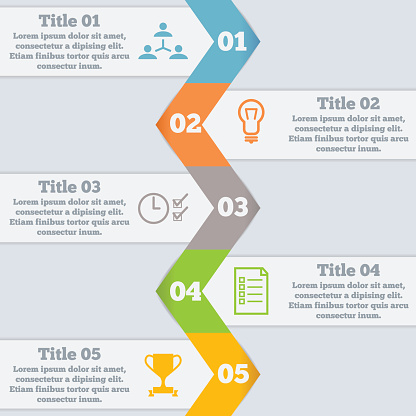 Modern business step origami style options banner, web template, infographics