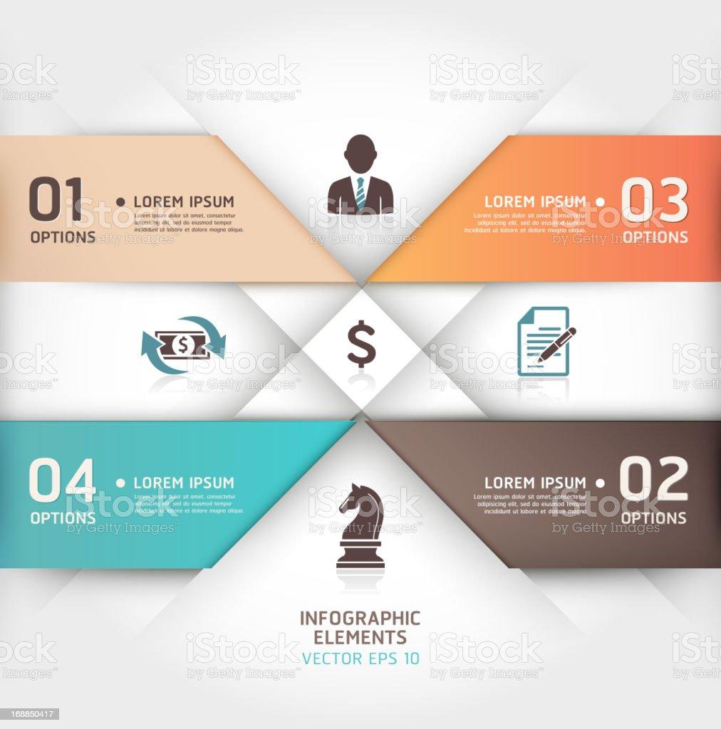 Modernes business origami-Stil-Infografiken. – Vektorgrafik