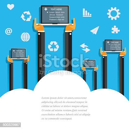 istock Modern business working concepts in flat design 500325667